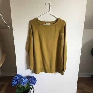 LOFT Mustard Tunic Sweater